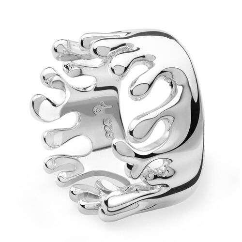 LucyQ Ocean Ring in Sterling Silver 8.00 Gms.