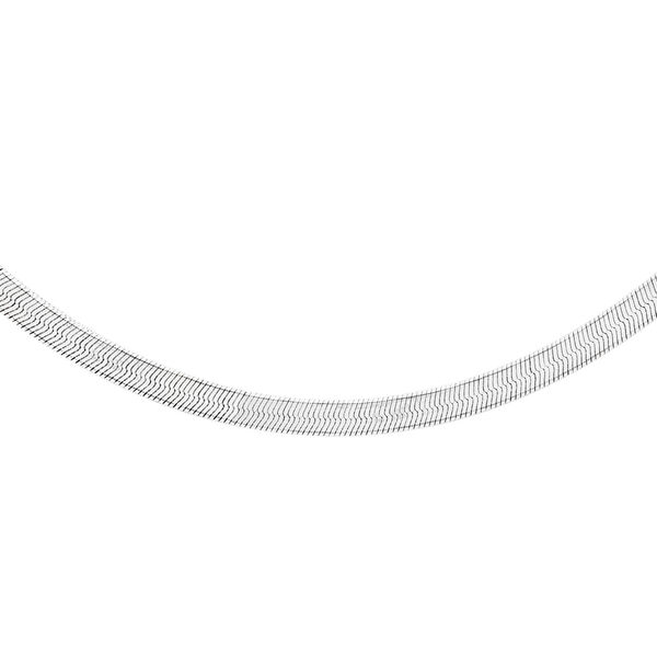 Sterling Silver Oval Snake Chain (Size 18), Silver wt 4.20 Gms