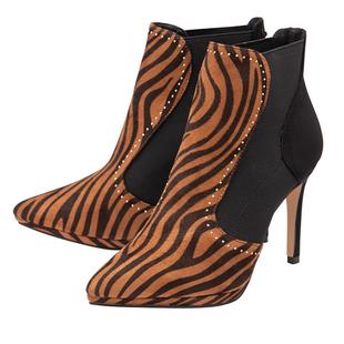 Ravel Amancio Leopard Heeled Leather Ankle Boots