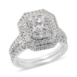 NY Close Out Deal- 14K W Gold SGL Certified Diamond (SI/G-H) Ring 1.500 Ct.