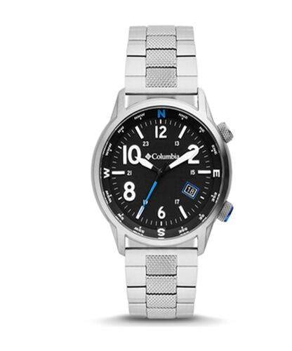 Columbia Outbacker Black 3-Hand Date Stainless Steel Bracelet Watch