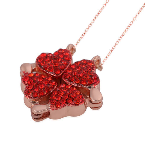 Trinket Box and Necklace (Size 18-20 with 3 inch Extender) with Magnet in Rose Gold Tone