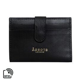 Assots London GROVE 100% Genuine Leather RFID Cardholder - Black