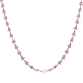 Italian Made - Designer Inspired Rose Gold overlay Sterling Silver Star Link Chain (Size - 18)