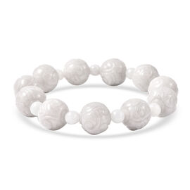 Extremely Rare Organic Natural Jade Stretchable Beads Bracelet (Size 7) 240.50 Ct.