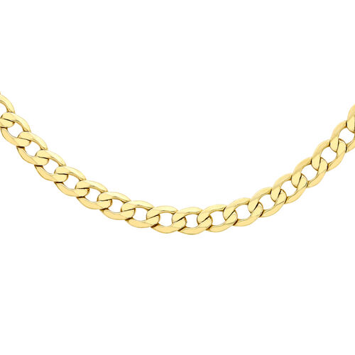 Italian Made - 9K Yellow Gold Curb Necklace (Size 20), Gold Wt. 11.20 Gms