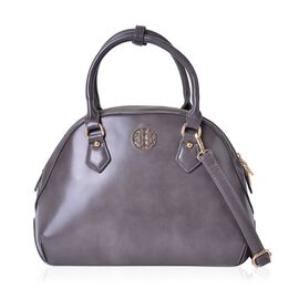 Timeless Collection Grey Colour Tote Bag with Adjustable and Removable Shoulder Strap (Size 33X23.5X