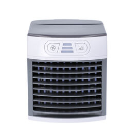 Multifunctional Portable Air Cooler with Three Wind Speed Settings - Grey and White