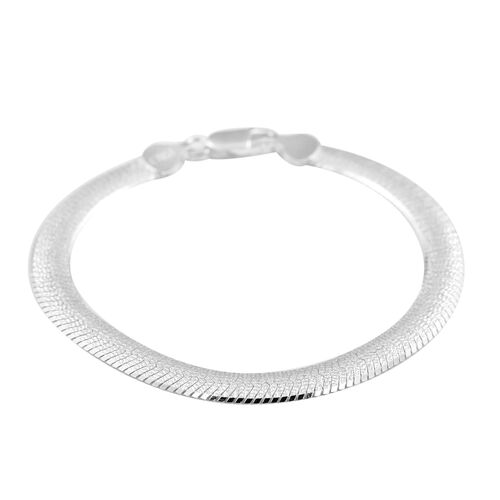 Sundays Child- Made in Italy - Rhodium Overlay Sterling Silver  Bracelet (Size 7.5), Silver wt 10.00