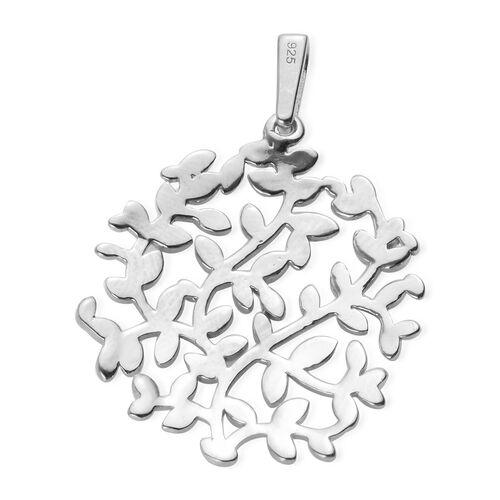 Designer Inspired- Platinum Overlay Sterling Silver Branch Vine Tree Pendant