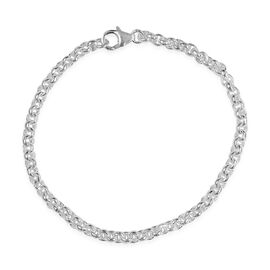 Sterling Silver Cable Chain Bracelet (Size 7.5), Silver wt. 8.76 Gms