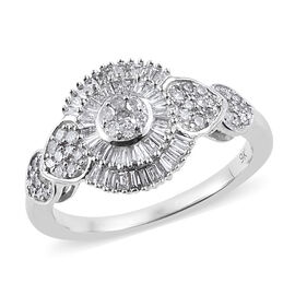9K White Gold SGL Certified Diamond (Rnd) (I2-13/G-H) Ring 0.500  Ct.
