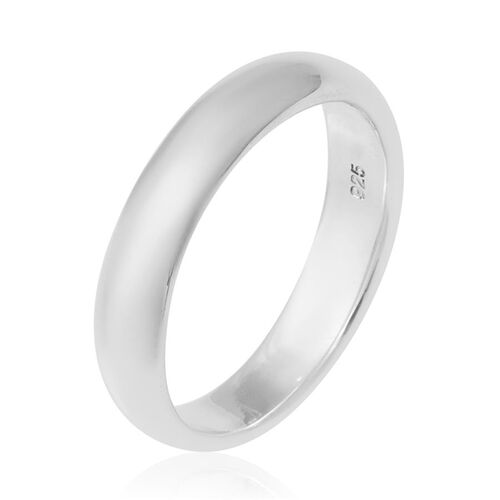 Sterling Silver Plain Band Ring, Silver wt 3.30 Gms