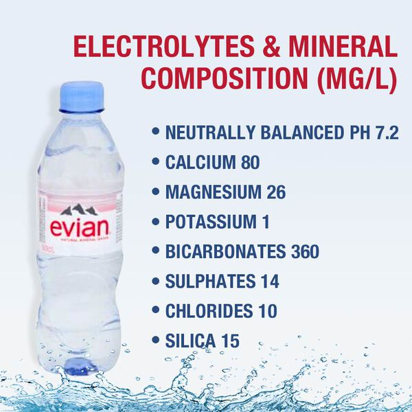 Evian: Still Water - 6X500ML (Pack of 2)