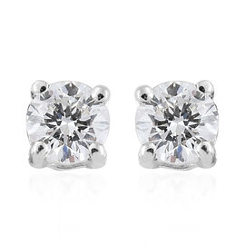 RHAPSODY 950 Platinum Diamond (Rnd) (VS/E-F) Stud Earrings (with Screw Back) 0.200 Ct.