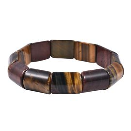 7 Inch Multi Colour Tiger Eye Stretchable Bracelet 293 Ct