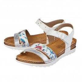 Lotus Prato Velcro Sandals in White Colour