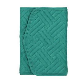 Jewellery Roll Organiser Magnetic Snap Closure Handbag (Size: 16x20.3x2.5Cm) - Green