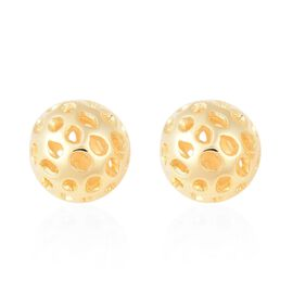 RACHEL GALLEY Yellow Gold Overlay Sterling Silver Globe Stud Earrings (with Push Back)