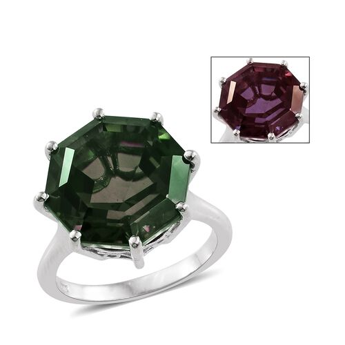 Alexandria Quartz Ring in Platinum Overlay Sterling Silver 17.000 Ct.