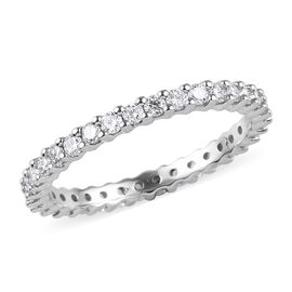 RHAPSODY 950 Platinum IGI Certified Diamond (VS/E-F) Full Eternity Band Ring 1.00 Ct, Platinum wt. 3