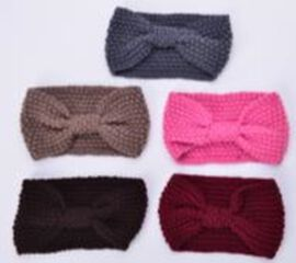Set of 5 Multi Colour Butterfly Design Hairbands (Size 12x20 Cm)
