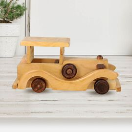 Handcrafted Wooden Vintage Car Toy (Size 20x9Cm)