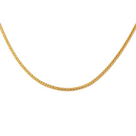 Royal Bali Collection- 9K Yellow Gold Spiga Necklace (Size 36), Gold Wt. 4.60 Gms