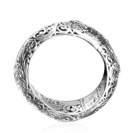Royal Bali Collection 18K Yellow Gold and Sterling Silver Bangle (Size 8), Metal wt 118.81 Gms.