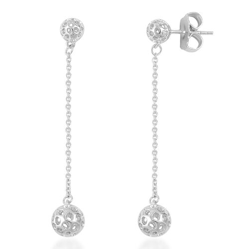 RACHEL GALLEY Rhodium Plated Sterling Silver Mini Globe Drop Earrings (with Push Back)