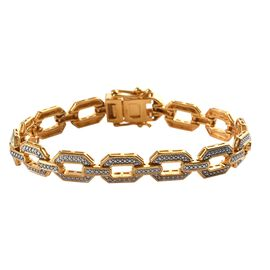 One Time Deal- Diamond Bracelet in Gold Plated (Size 7.5 Inch)