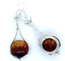 Natural Baltic Amber Lever Back Earrings in Sterling Silver, Silver wt 9.84 Gms