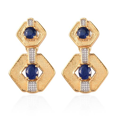 Tanzanian Blue Spinel Earrings (with Push Back) in 14K Gold Overlay Sterling Silver 1.56 Ct., Silver