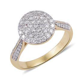 ILIANA 0.50 Carat Diamond Cluster Ring in 18K Gold 4.34 Grams
