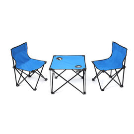 3 Piece Set - Outdoor Table and Two Chairs (Size Chair: 56x35x34 Cm, Table: 37x46 Cm) - Blue