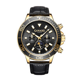 Limited Edition - GAMAGES OF LONDON Hand Assembled Rotating Moon Phase Automatic Gold
