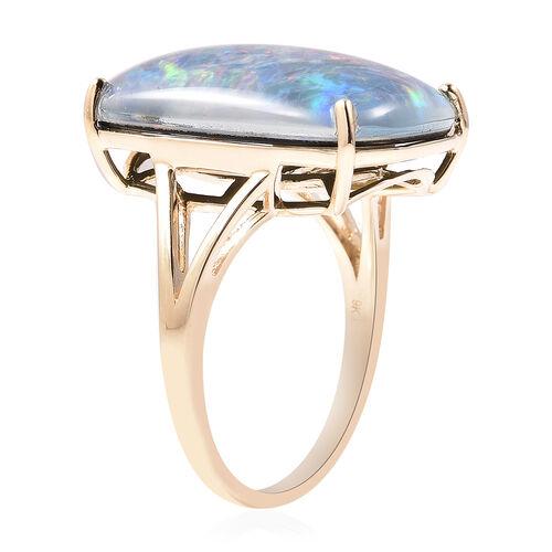9K Yellow Gold Australian Boulder Opal Ring