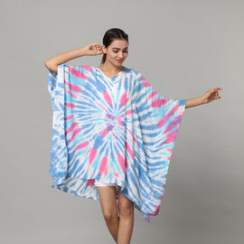 New Arrival-Tie & Dye Kaftan in Blue and Multi Colour (Size upto 18)