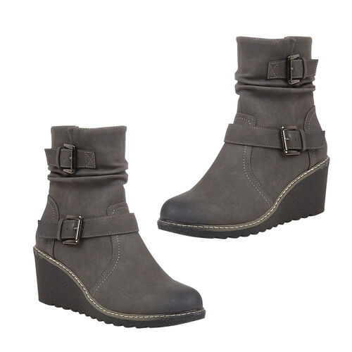 Lotus Pheobe Ankle Boots (Size 4) - Grey