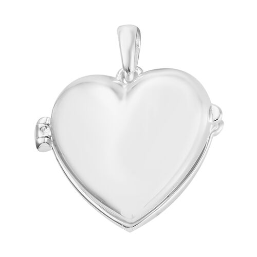 One Time Mega Deal-Sterling Silver Heart Locket Pendant, Silver wt 6.56 Gms.