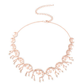 LucyQ Star Collection- Rose Gold Overlay Sterling Silver Necklace (Size 16 with 4 Extender)