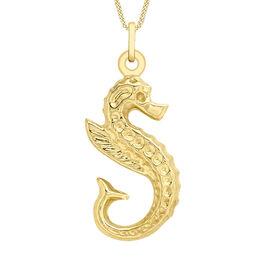 9K Yellow Gold Seahorse Pendant