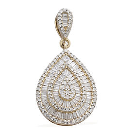 ILIANA 1 Carat Diamond Cluster Pendant in 18K Gold 3.65 Grams SGL Certified SI GH