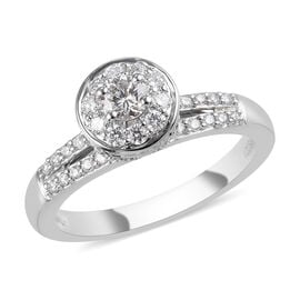 RHAPSODY 950 Platinum IGI Certified Diamond (VS/E-F) Ring 0.75 Ct, Platinum wt. 6.63 Gms