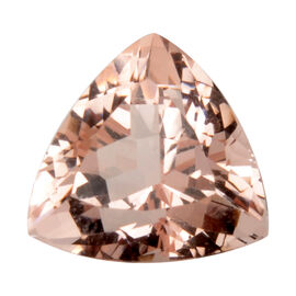 AAAA Morganite Trillion 10mm Faceted 3.15-3.50 Cts