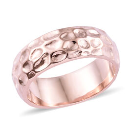 7mm Texture Band Ring in Rose Gold Plated 925S Silver