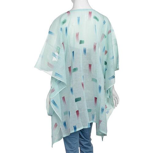 One Time Mega Deal-100% Cotton Green and Multi Colour Kaftan (Size 85x70 Cm)