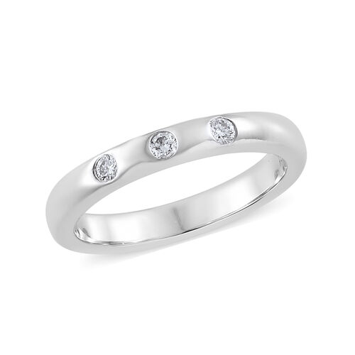 RHAPSODY 950 Platinum IGI Certified Diamond (Rnd) (VS/E-F) Band Ring 0.100 Ct.