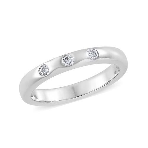RHAPSODY 950 Platinum IGI Certified Diamond (Rnd) (VS/E-F) Band Ring 0.100 Ct.