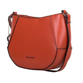 Bulaggi Collection - Kayla Crossbody Bag with Zipper Closure (Size 21x17x08cm) - Orange